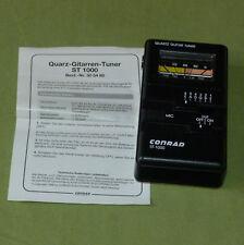 Conrad st-1000 Quartz Guitar Tuner regolatore voce in imballo originale con batteria NUOVO TOP!