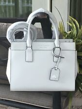 KATE SPADE CAMERON MEDIUM SATCHEL SHOULDER TOTE BAG WHITE LEATHER $399