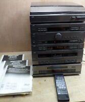 JVC Stereo Hifi Stack System CD Tuner Cassette Manual Remote READ DR-E55 XL-E45