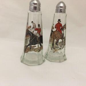 HERRING HUNTING GLASS  SALT & PEPPER SHACKER SET