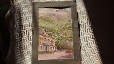 Aquarelle de 1941 représentant le casino de Cauterets dans les Hautes Pyrénées