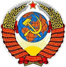 Sticker car moto map flag vinyl outside wall decal russia soviet ussr urss