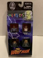 "Universal Studios Monsters Miimates ""The Wolfman"" Figures 4 PK Diamond Select"