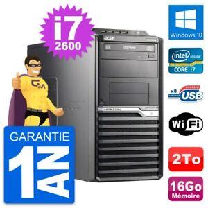 PC Tour Acer Veriton M2610G Core i7-2600 RAM 16Go Disque Dur 2To Windows 10 Wifi