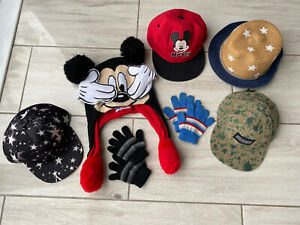 Winter Summer Cap Hat Bundle Mickey Mouse Star 2 , 3 , 4 , 5 Years