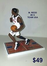 Custom M. Redd #8 G Team Usa (Mil Bucks) Mcfarlane figure