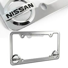 Nissan Chrome Metal License Plate Frame Officially Licensed