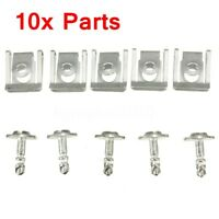 10Pcs Clips Protection Fixation Rivets Suspension Moteur Métal Pour BMW E38 E39