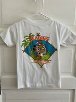 Vintage Mickey Mouse Reading 'It's an Adventure' Kids T Shirt Sz Sm USA Disney