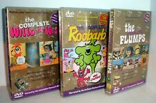 CLASSIC CHILDREN'S DVDs - Complete Roobarb & Custard, Willo the Wisp, the Flumps
