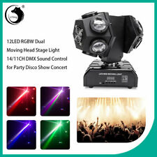 12LED Dual Moving Head RGB Stage Lighting lights DMX-512 DJ Disco Strobe Beam