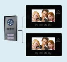 """Videocitofono 7"""" (2 monitor + 1 telecamera 2 tasti) Bifamiliare colori (166)"""