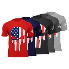 T-Shirt the punisher Multi-color us skull Dragon shirt 100% cotton USA Flag Skul