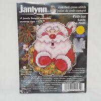 Vintage Janlynn 80s Christmas Cross Stitch Wall Hanging Kit Craft Noel Banner