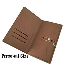 Kraft File Folder with Envelope for Personal Size Midori Travelers Notebook