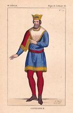Portrait Lothaire II Hlothar Lothaire II de Lotharingie Carolingien