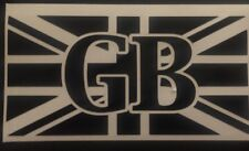 GB Union Jack Sticker , Decal , Boot/ Bumper Sticker MG, Triumph, Classic Mini
