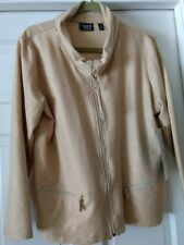 Onque Casuals Size L Zip Front Glitter Jacket In Sandbox - NWT