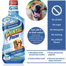 Dental Fresh Whitening Water Additive Original Formula for Dog 17oz Advanced Whi