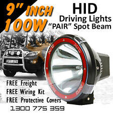 HID Xenon Driving Lights - 9 Inch 100w PRO Spot Beam 4x4 4wd Off Road  12v 24v