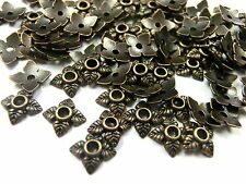 100 Perlkappen Endkappen Perlenkappen 6mm Farbe kupfer für 6mm Perlen #S626