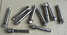 10mm X 80mm EXPANSION BOLT STAINLESS STEEL SET OF 10  M10  304 steel