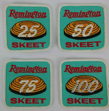 Remington Skeet Shooting Patches Lot of 4 25, 50, 75, & 100