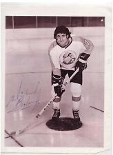 MIKE BOLAND SIGNED PHOTO NHL PHILADELPHIA FLYERS 1974-75 AHL WHA RARE AUTOGRAPH