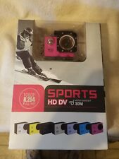 Waterproof Full HD 1080P 12MP Car Cam Sports Action Camera DV Camcorder Pink