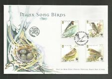 I.O.M 2000 SONG BIRDS FDC SG,882-885 LOT R973