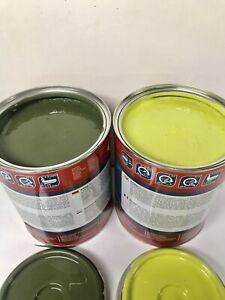 Mercedes MB Trac Light & Dark Green Paint Endurance Enamel Paint 1 Litre Tins