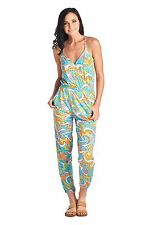 $154 TRINA TURK L COSMOS Beach Jumpsuit Pants Swim Cover Up