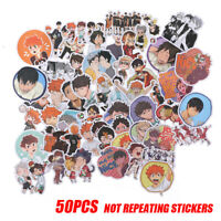 50PCS Anime Haikyuu PVC Sticker for Luggage Laptop Skateboard Waterpr*sh