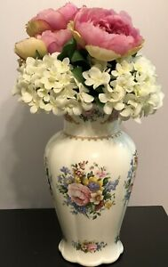 Royal Albert Lady Carlyle Large Vase with Matching Faux Floral Bouquet