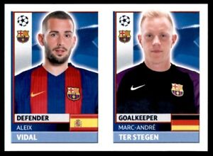 Topps CL 2016-17 FCB4/FCB5 Marc-André Ter Stegen/Aleix Vidal Barcelona