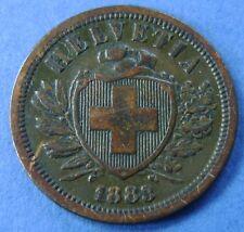 1883  Zwitserland - Switzerland  2 Rappen 1883 B - KM# 4.1