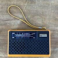 Vintage Prinzsound R375 Dual Band Lw/mw Portable Radio Black & Orange - Faulty.
