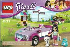 Lego Friends Emma's Sports Car 41013 Replacement Instruction Manual Only