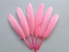 Natural Goose Feather 4-6inch/10-15cm  BRIGHT PINK UK Seller