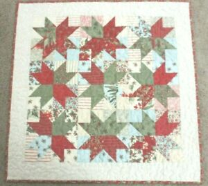 """Hand Made Quilted Table Runner/Topper ~Xmas~ 25"""" Sq ~ 100% Cotton~ multicolor"""