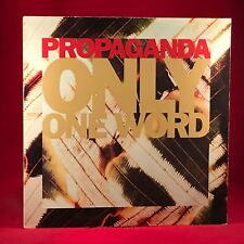 "PROPAGANDA Only One Word 1990 UK 3-track 12"" Vinyl Single EXCELLENT CONDITION"
