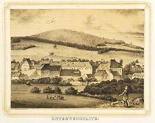 WEISCHLITZ - RITTERGUT UNTERWEISCHLITZ - Poenicke - Tonlithografie 1854