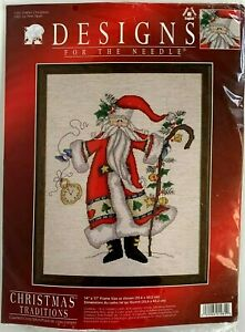 Father Christmas Traditions Cross Stitch Santa Designs For The Needle #1981