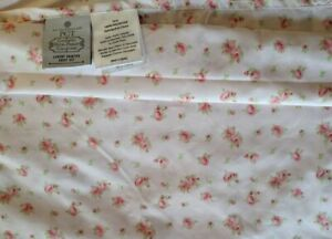 Twin Flat Sheet Pink Rose Barnard Printed floral nice Shabby Chic