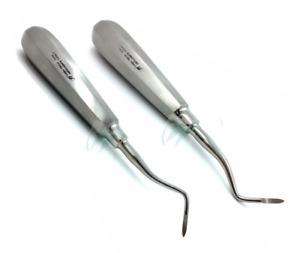 Set of 2 Dental Heidbrink Root Tip Pick Elevators Right+Left Hygiene Instruments