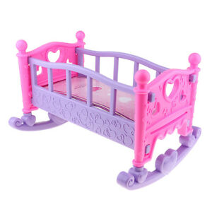 Cute Baby Doll Rocking Bedroom Dollhouse Accessory for Mellchan Doll Toys