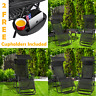 Zero Gravity Folding Sun Lounger Garden Chairs Deck Set Outdoor Adjustable