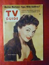 MARION MARLOWE Howdy Doody LASSIE R Reagan TV GUIDE December 11 1954 New England