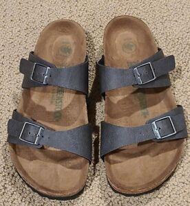Birkenstock  Vegan Sydney Anthracite Colored Sandals Size 38 M ...L7 M5, NWOB