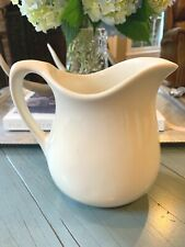 New listing Off White Antique Ironstone Pitcher